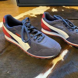 Puma Blue Leather Suede Shoes